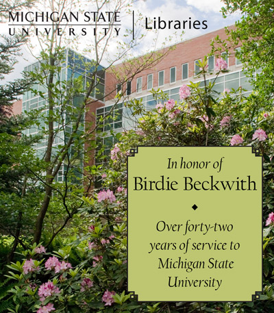 In Recognition of Birdie Beckwith