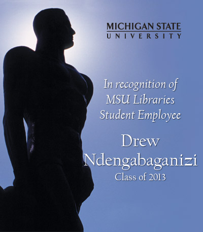 In Recognition of Drew Ndengabaganizi