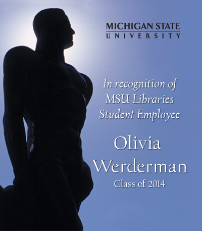In Recognition of Olivia Werderman