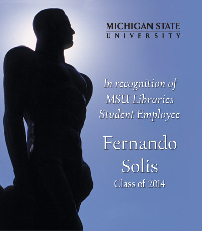In Recognition of Fernando Solis