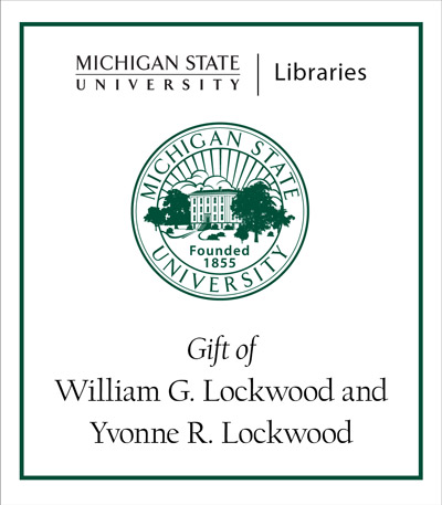 The William G. Lockwood and Yvonne R. Lockwood Collection of National, Ethnic and Regional Foodways