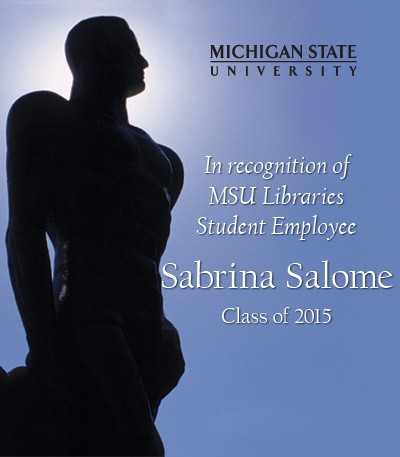 In Recognition of Sabrina Salome