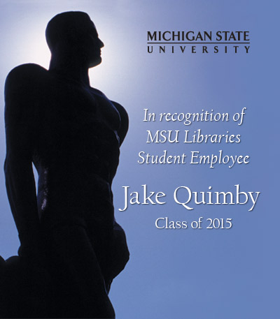 In Recognition of Jake Quimby