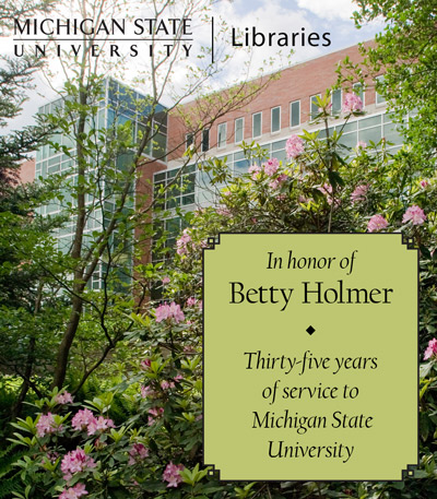 In Recognition of Betty Holmer