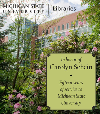 In Recognition of Carolyn Schein
