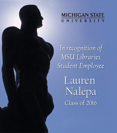 In Recognition of Lauren Nalepa