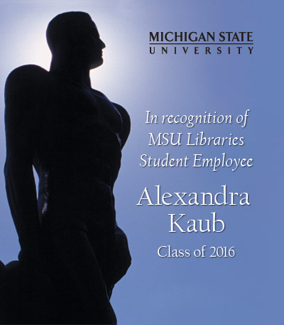 In Recognition of Alexandra Kaub