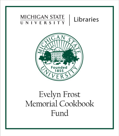 Evelyn Frost Memorial Cookbook Fund