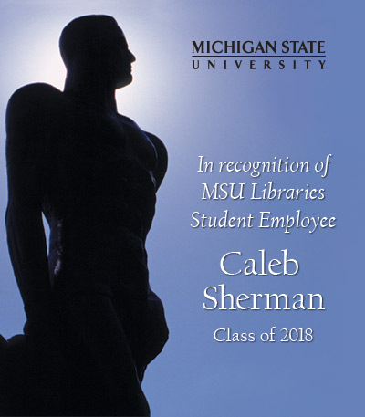 In Recognition of Caleb Sherman