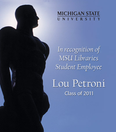 In recognition of Lou Petroni