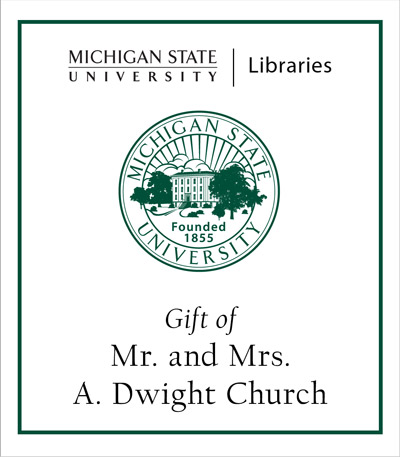 Gift of Mr. and Mrs. A. Dwight Church