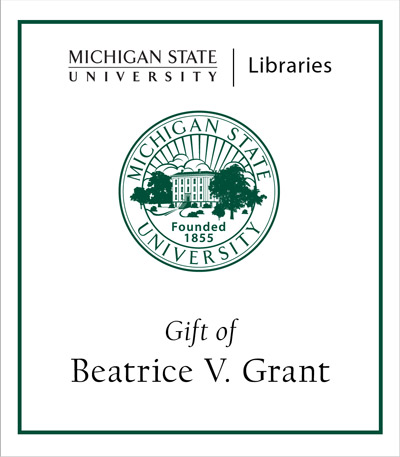 Beatrice V. Grant Cookbook Collection