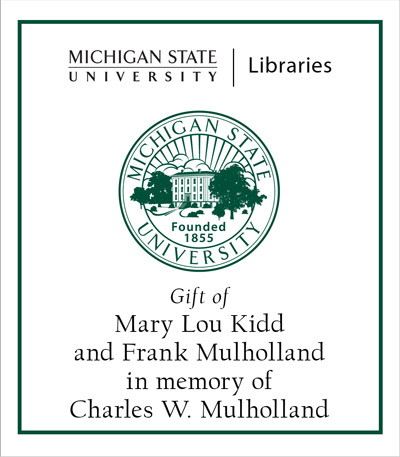 Gift of Mary Lou Kidd and Frank Mulholland in memory of Charles W. Mulholland