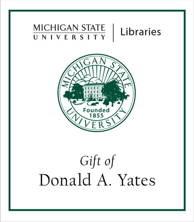 Gift of Donald A. Yates