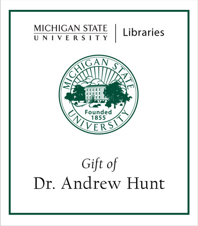 Gift of Dr. Andrew Hunt