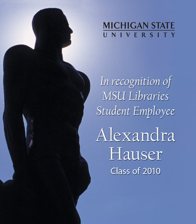 In Recognition of Alexandra Hauser