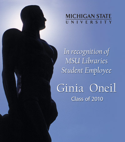 In Recognition of Ginia Oneil
