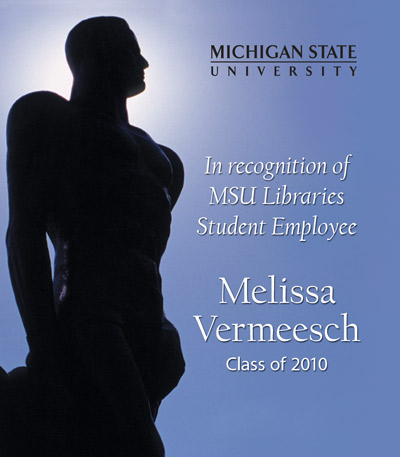 In Recognition of Melissa Vermeesch