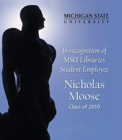 In Recognition of Nicholas Moose