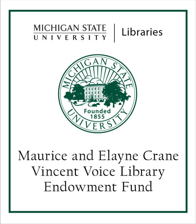 Maurice and Elayne Crane Vincent Voice Library Endowment Fund