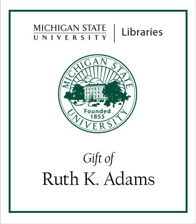 Gift of Ruth K. Adams
