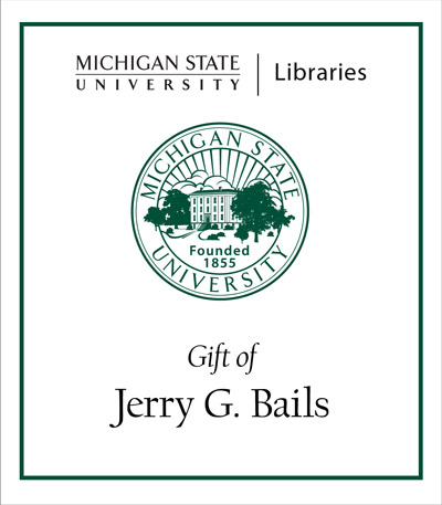 Gift of Jerry G. Bails