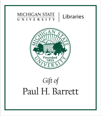 Gift of Paul H. Barrett