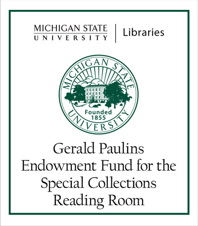 Gerald Paulins Endowment Fund for the Special Collections Reading Room