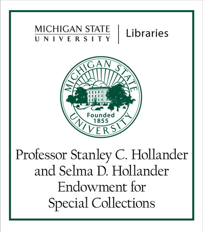 Professor Stanley C. Hollander and Selma D. Hollander Endowment for Special Collections