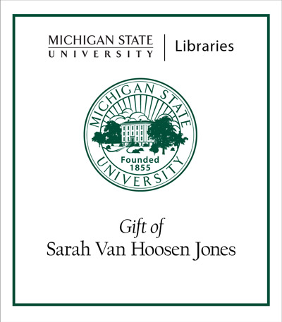 Gift of Sarah Van Hoosen Jones