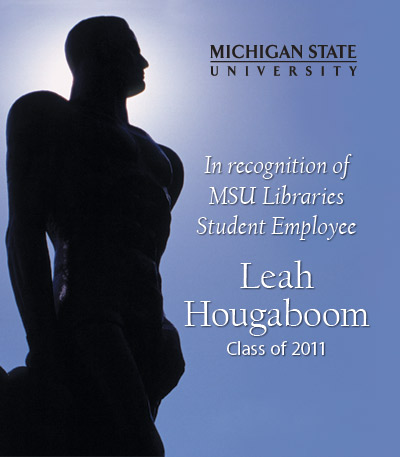 In Recognition of Leah Hougaboom