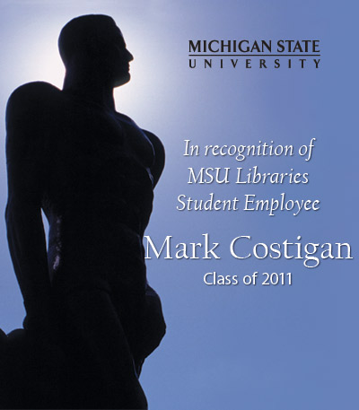 In Recognition of Mark Costigan
