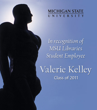 In recognition of Valerie Kelley