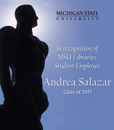 In recognition of Andrea Salazar