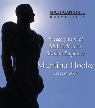 In Recognition of Martina Hooke