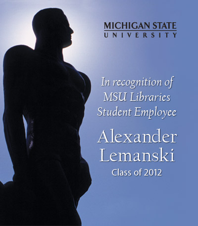 In Recognition of Alex Lemanski