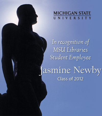 In Recognition of Jasmine Newby