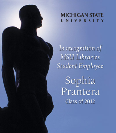 In Recognition of Sophia Prantera