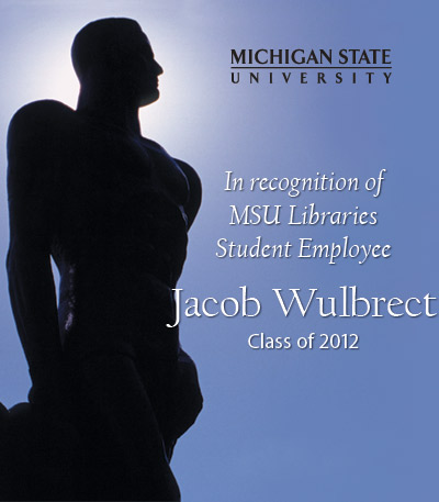 In Recognition of Jacob Wulbrect