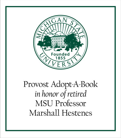 Provost Adopt-A-Book in Honor of Marshall Hestenes