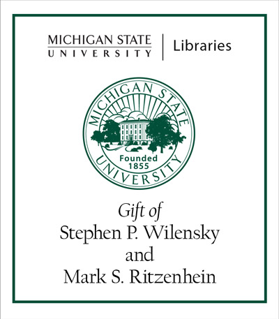 Gift of Stephen P. Wilensky and Mark S. Ritzenhein