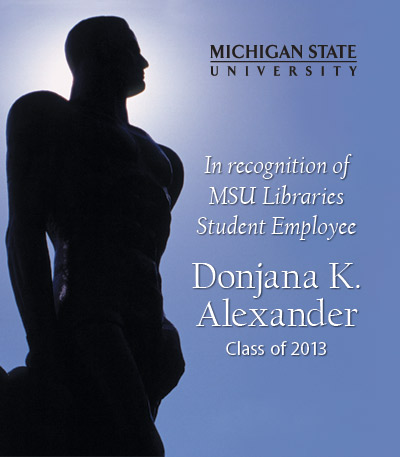 In Recognition of Donjana K. Alexander