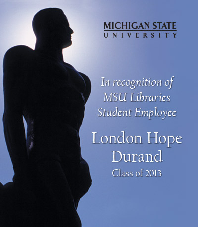 In Recognition of London Hope Durand
