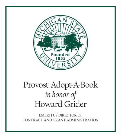 Provost Adopt-A-Book in Honor of Howard Grider