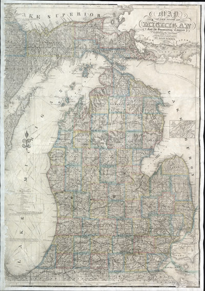 Map of the State of Michigan and the Surrounding Country