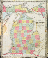 1857 Township map of Michigan