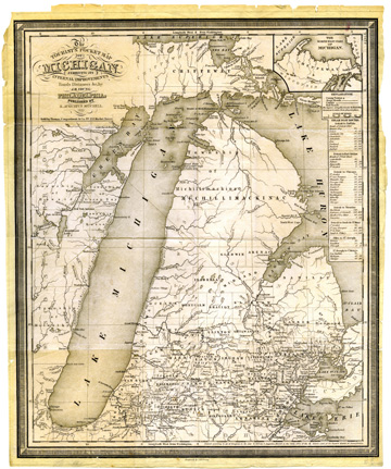 The Tourist's Pocket Map of Michigan