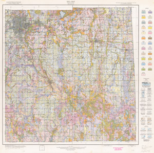 Soil map, Ingham County, Michigan