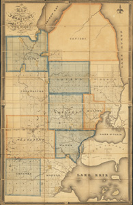 Survey of east part of the Territory of Michigan in 1825, color