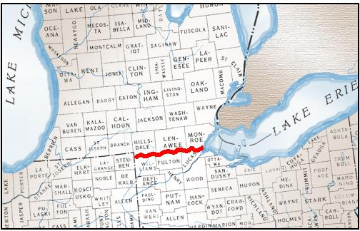 Michigan And Ohio Map.Evolution Of Michigan S Legal Boundaries Map Library Msu Libraries